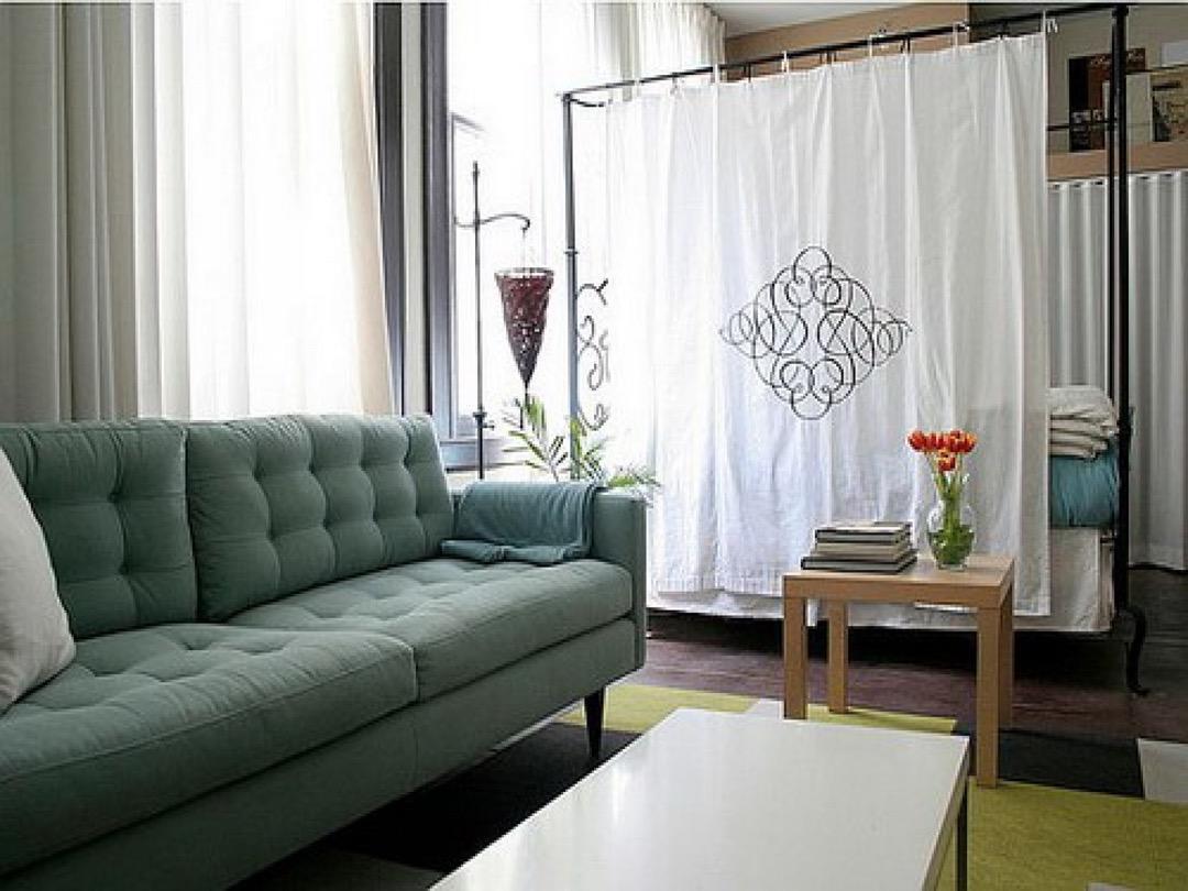 hình ảnh: cách sử dụng rèm của để phân chia các phòng trong nhà ở căn hộ chung cư