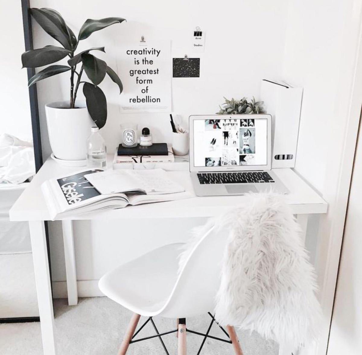 trang trí màu trắng cho căn nhà thêm xinh