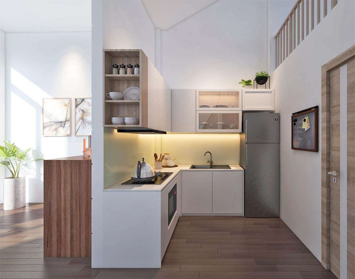 Tư vấn thiết kế nội thất ngôi nhà phố 2 phòng ngủ với kinh phí khoảng 400 triệu