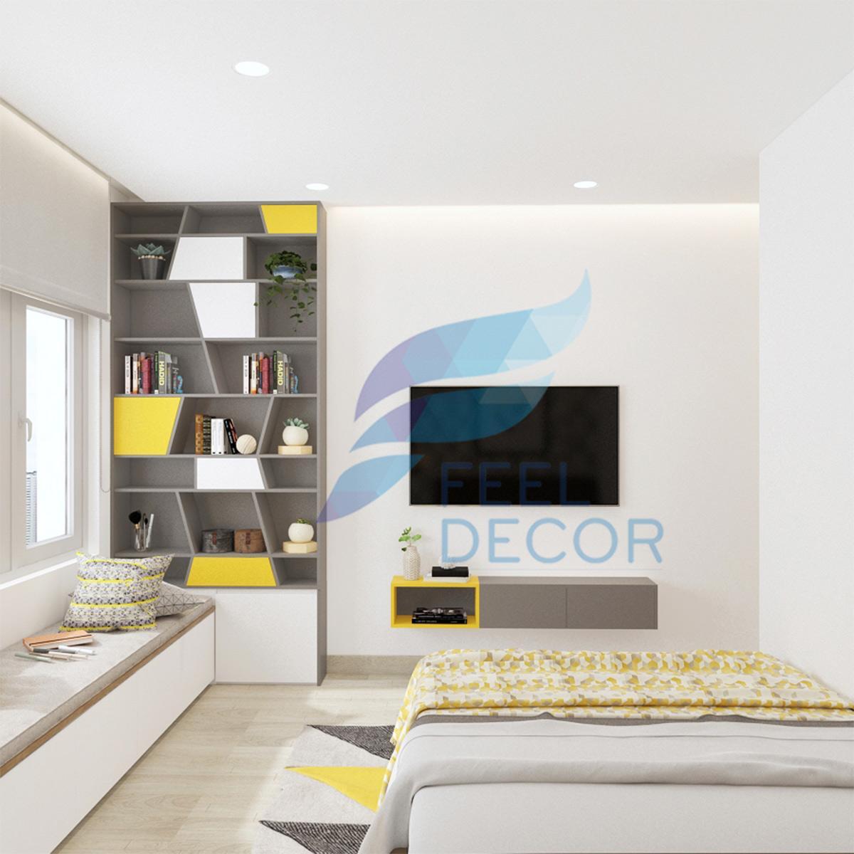 Thiết kế nội thất căn hộ studio 1 phòng ngủ 73m2 tại chung cư The Everrich Infinity