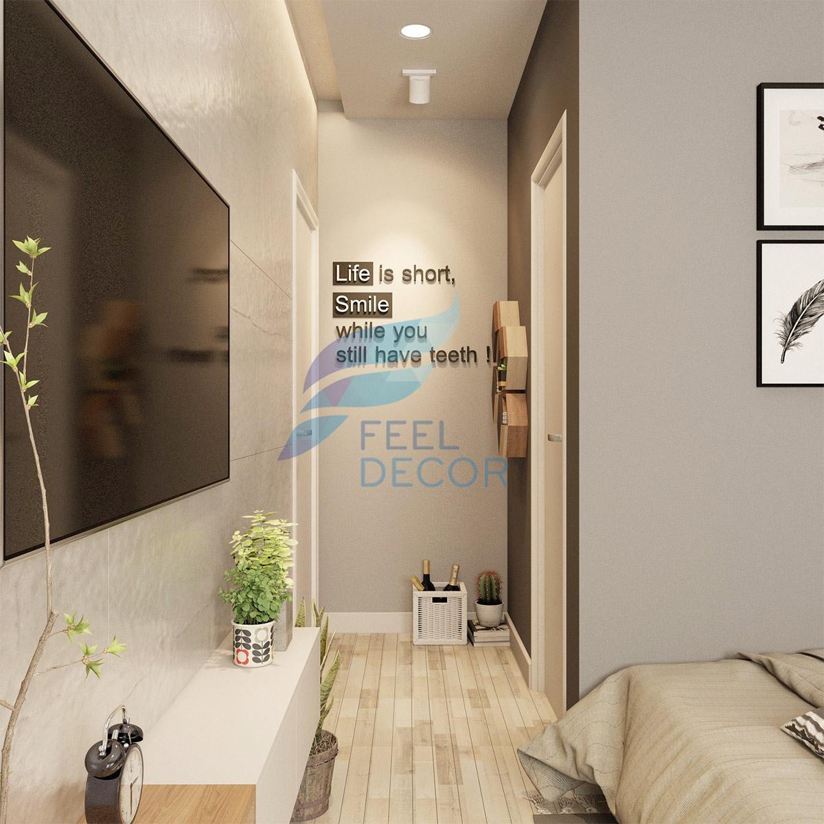 thiết kế nội thất căn hộ 1 người ở 73m2 tại chung cư The Everrich Infinity