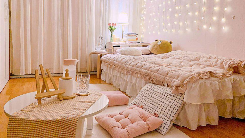 nội thất phòng trọ đẹp lung linh