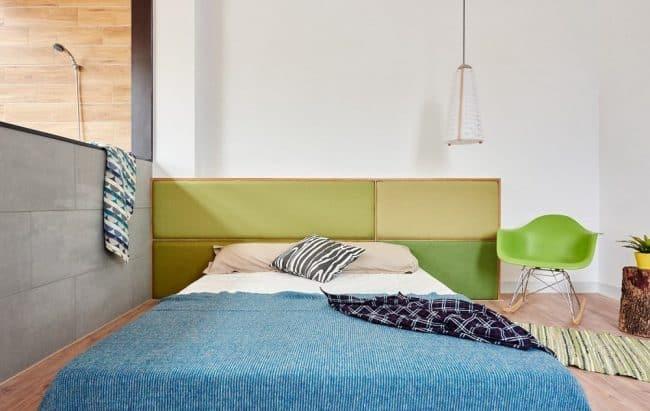 Phòng ngủ rất thoáng mắt,gọn gàng và ngập tràn ánh sáng tự nhiên