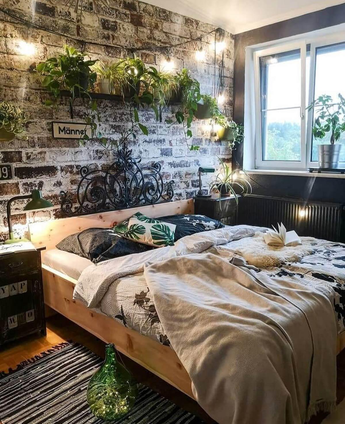 không gian xanh phòng ngủ