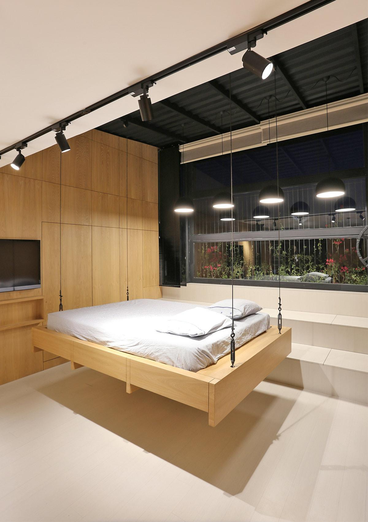 thiết kế giường treo cho phòng ngủ