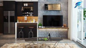 thiết kế nội thất căn hộ 2 phòng ngủ [88m2] chung cư Green Valley