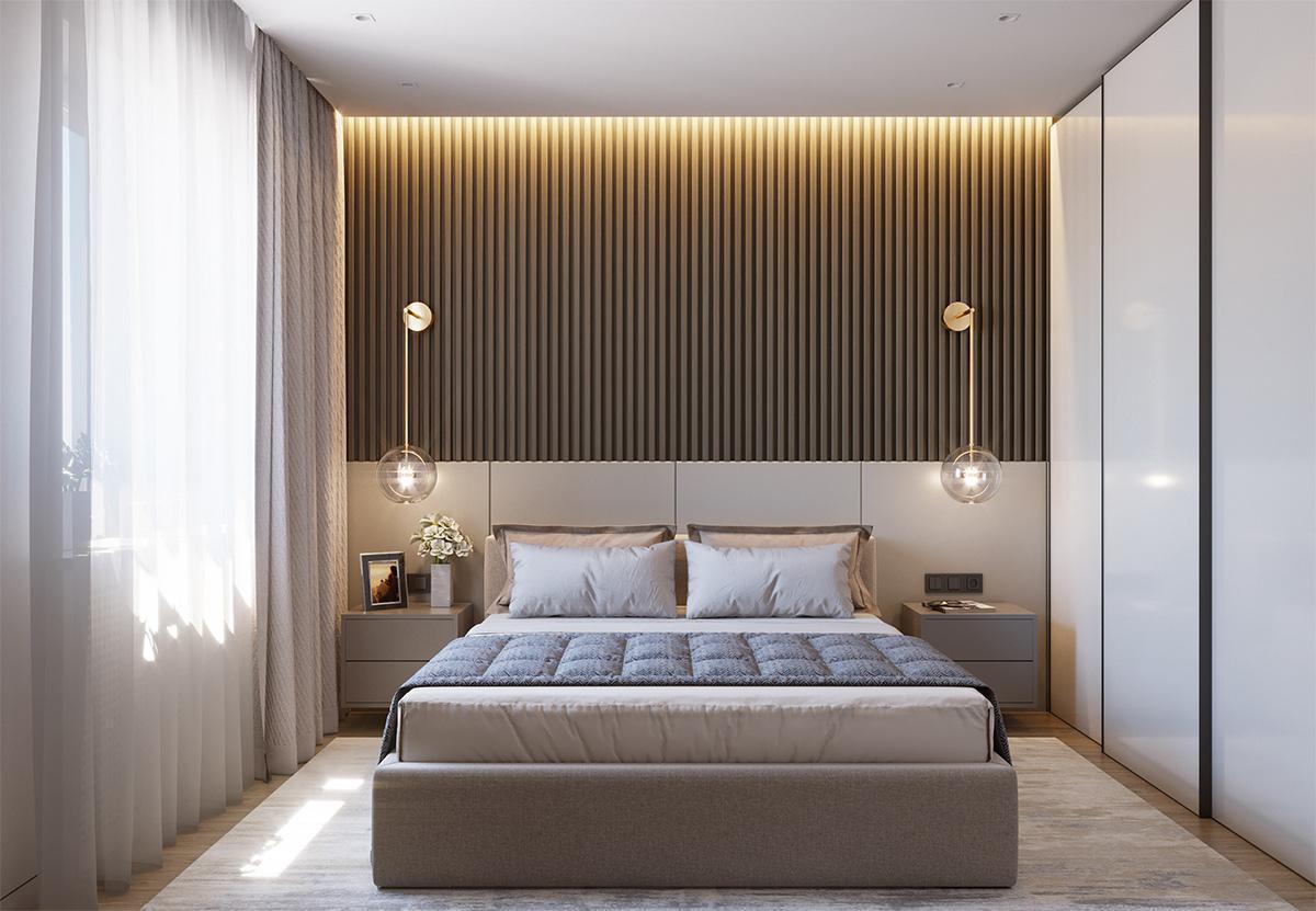 phòng ngủ master hiện đại, tiện nghi