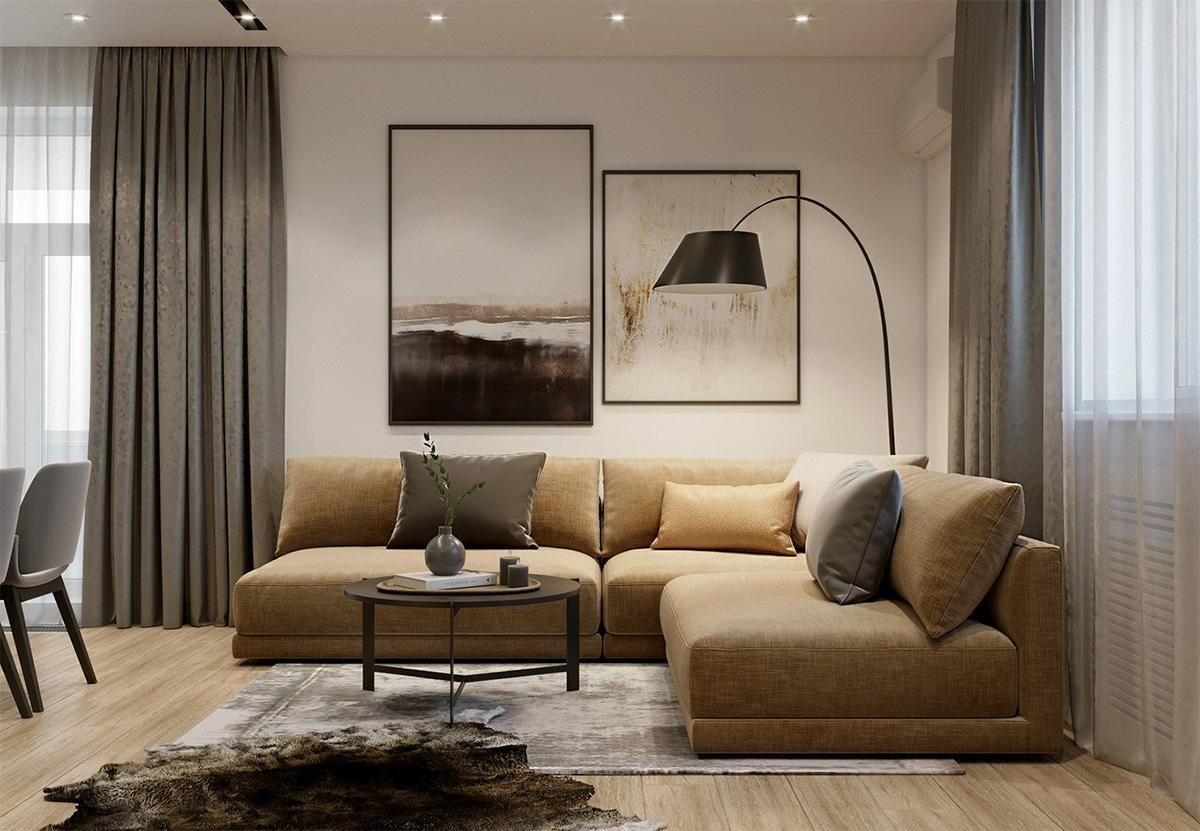 Cận cảnh mẫu thiết kế chung cư đẹp 63m2 theo phong cách Minimalism