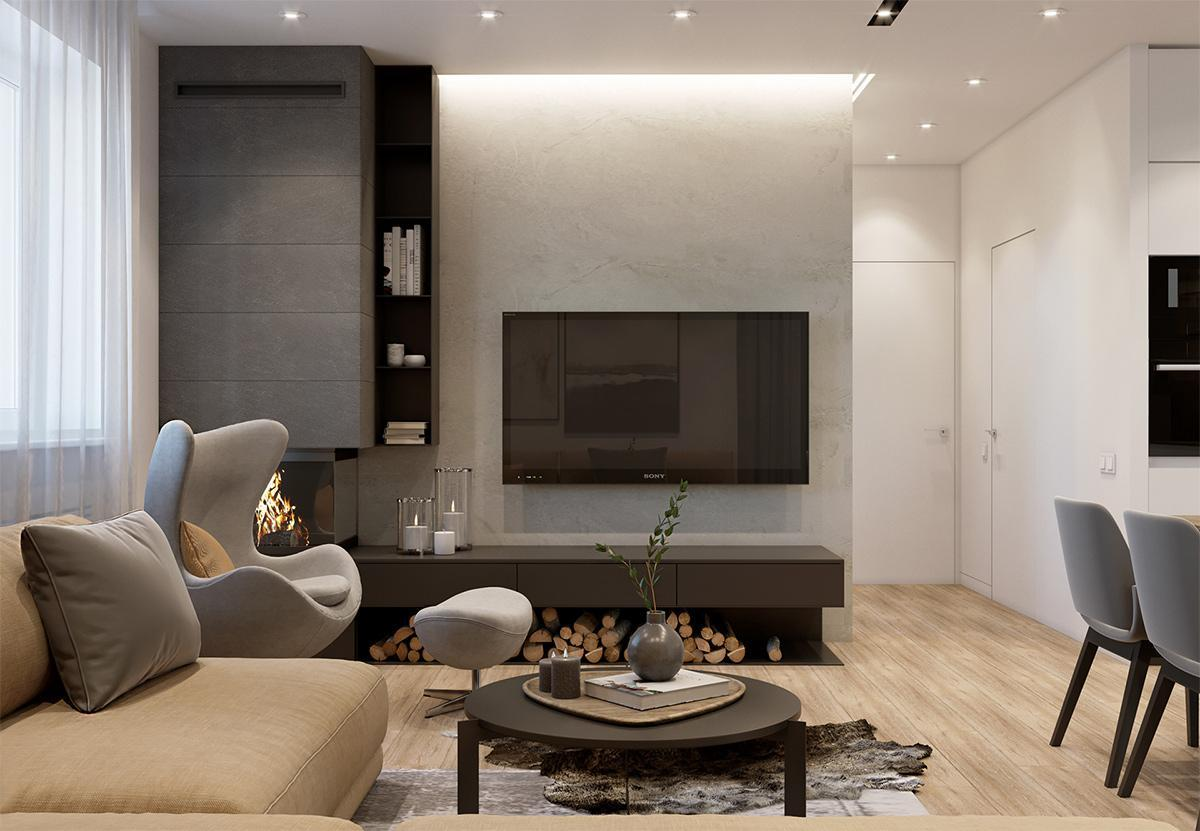 không gian nội thất căn hộ 63m2