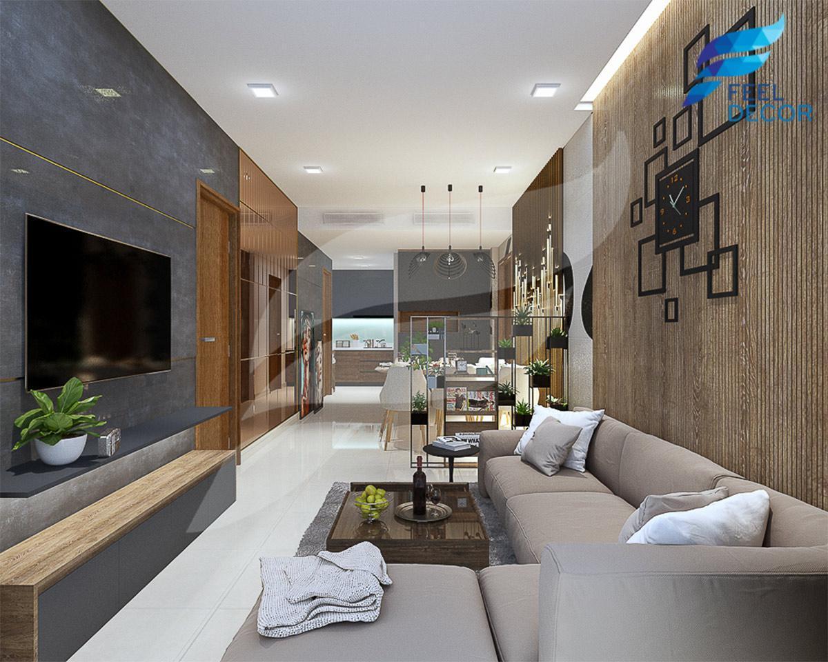 nội thất căn hộ 2 phòng ngủ [63m2] chung cư Rivera Par