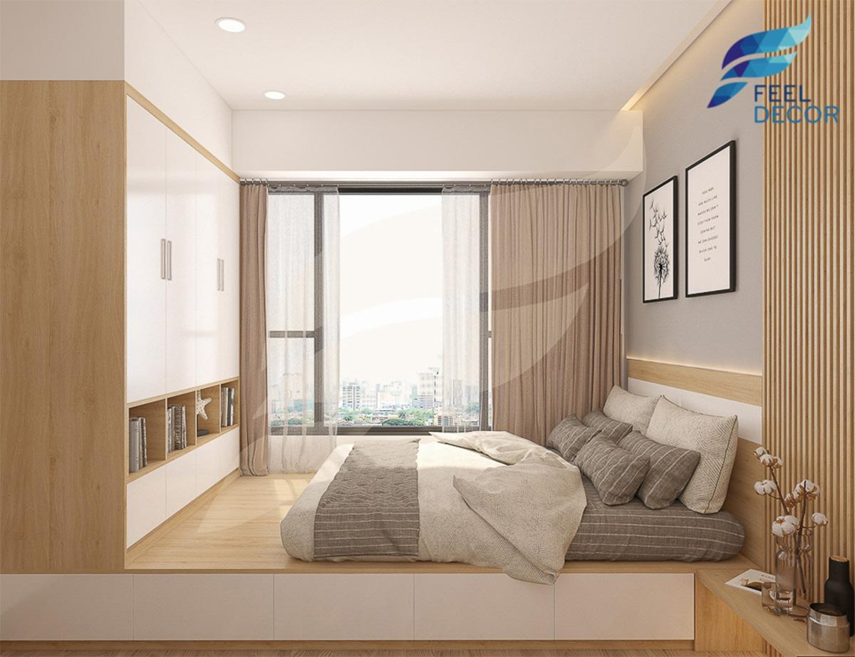 căn hộ chung cư 2 phòng ngủ RiverGate theo phong cách Scandinavian