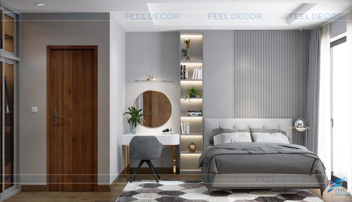 Mẫu thiết kế nội thất căn hộ chung cư 2 phòng ngủ ấm áp