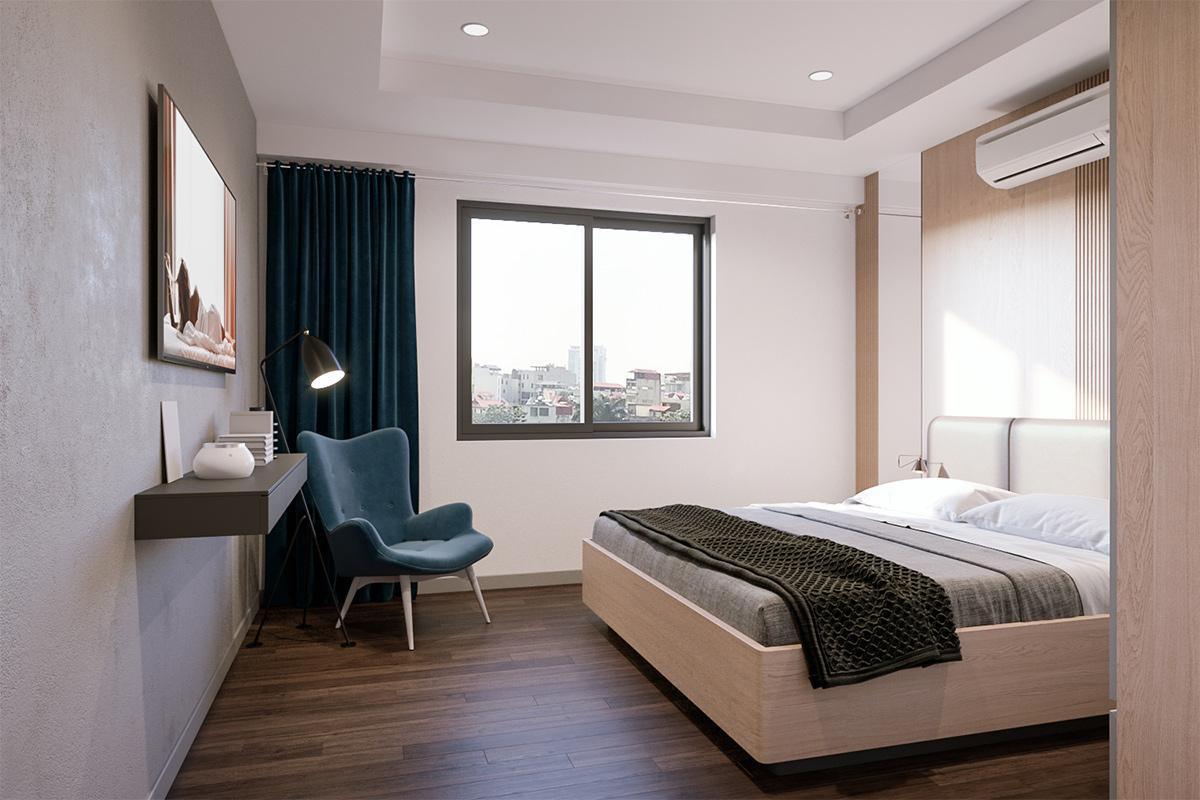 Thi công cải tạo nội thất căn hộ chung cư 2 phòng ngủ 72m2 bàn giao hoàn thiện