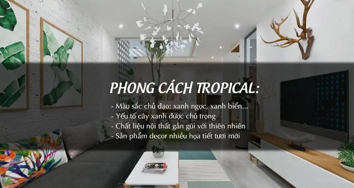 phong cách tropical tươi mát