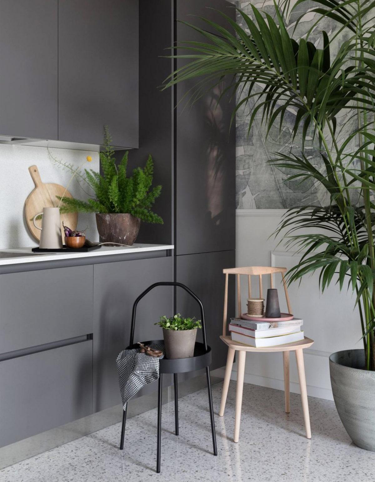 thiết kế nội thất căn hộ 2 phòng ngủ phong cách tropical tươi mát