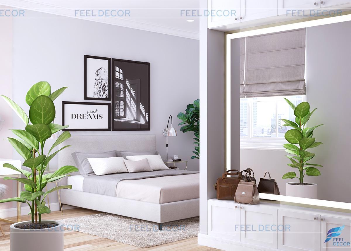 Thiết kế nội thất phòng ngủ Master căn hộ 119m2 chung cư Sky Center