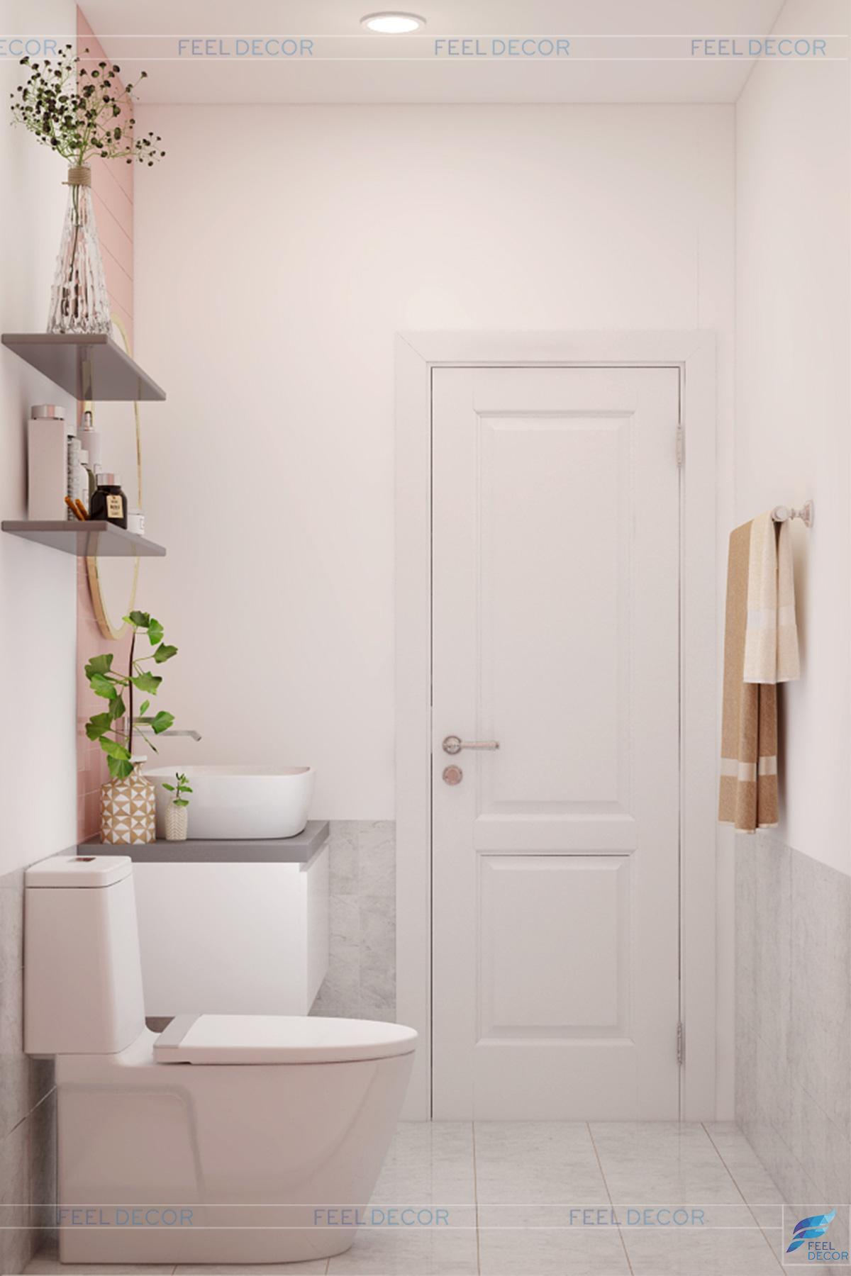 Thiết kế nội thất phòng vệ sinh căn hộ 119m2 chung cư Sky Center