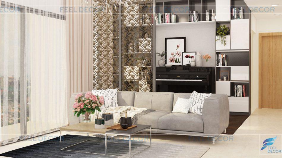 nội thất căn hộ 92m2 chung cư RiverGate Residence của NovaLand