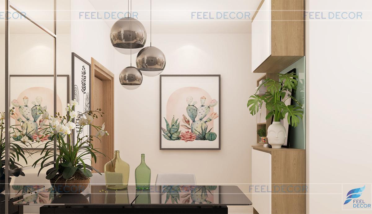 Thiết kế nội thất phòng khách 92m2 chung cư RiverGate