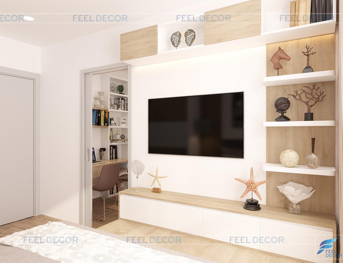 nội thất căn hộ 110m2 (3 phòng ngủ) chung cư The Gold View