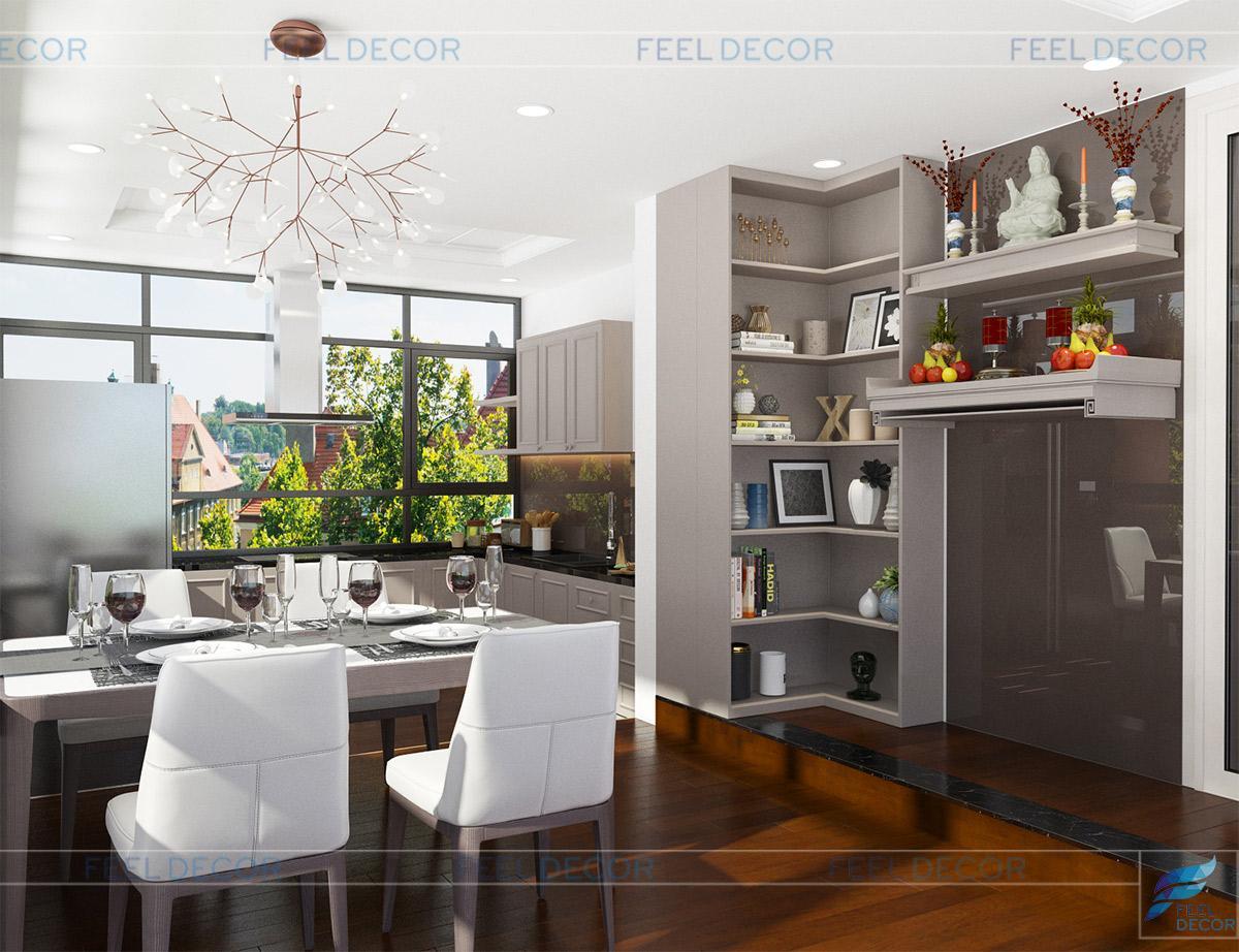 Thiết kế thi công nội thất căn hộ 2 phòng ngủ chung cư Sky Garden