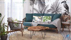 thiết kế căn hộ theo phong cách tropical