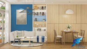 Thiết kế thi công nội thất căn hộ 69m2 chung cư Vinhomes Central Park – FD2818