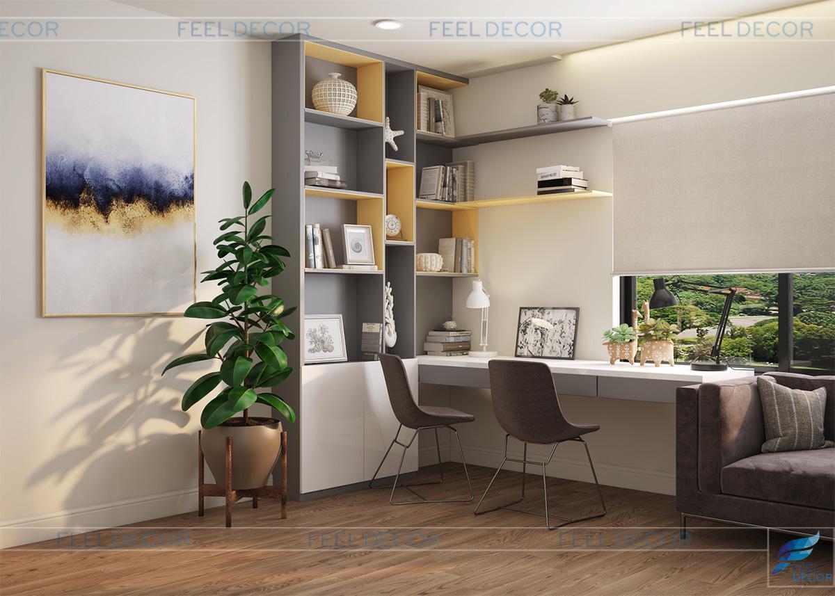 nội thất căn hộ 3 phòng ngủ (120m2) chung cư The Gold View
