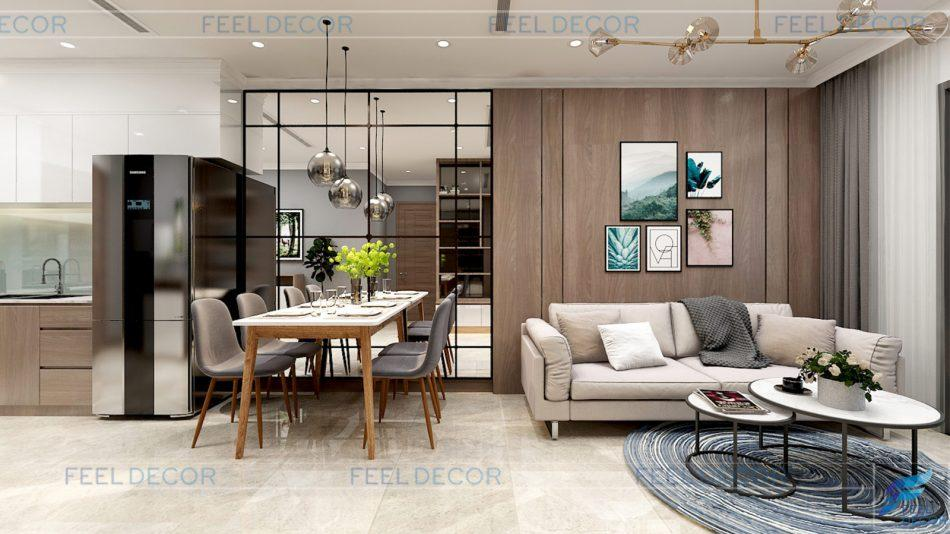 thiết kế nội thất căn hộ 51m2