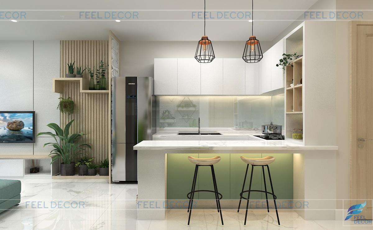 Không gian nội thất bếp hiện đại