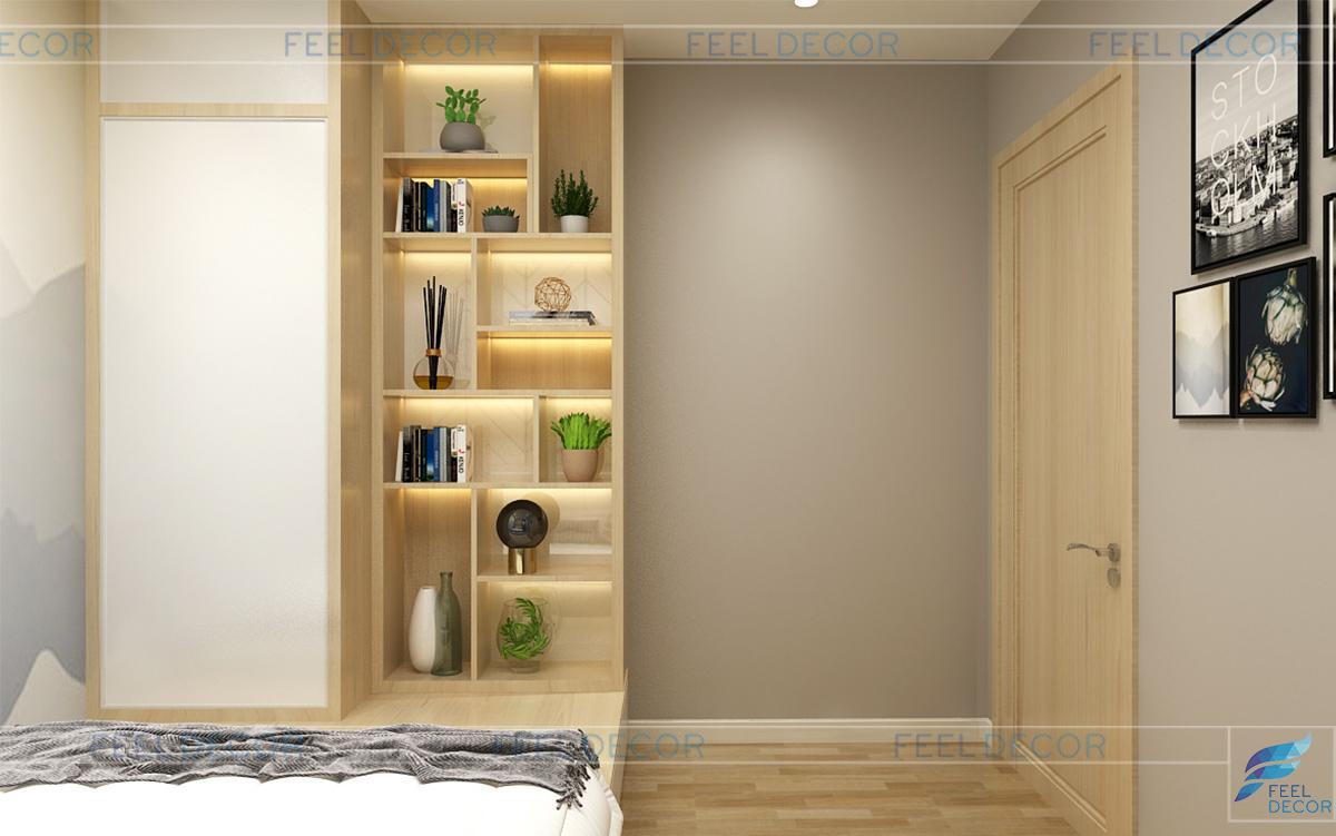 Không gian nội thất phòng ngủ phụ