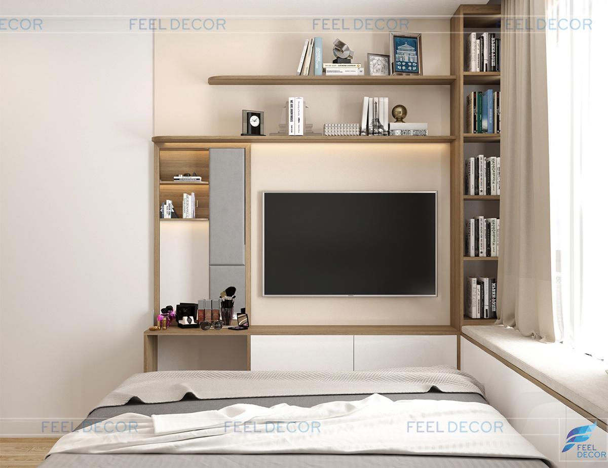Thiết kế thi công nội thất phòng ngủ Master căn hộ 65m2