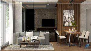 Thiết kế thi công nội thất căn hộ 74m2 chung cư Millennium Masteri