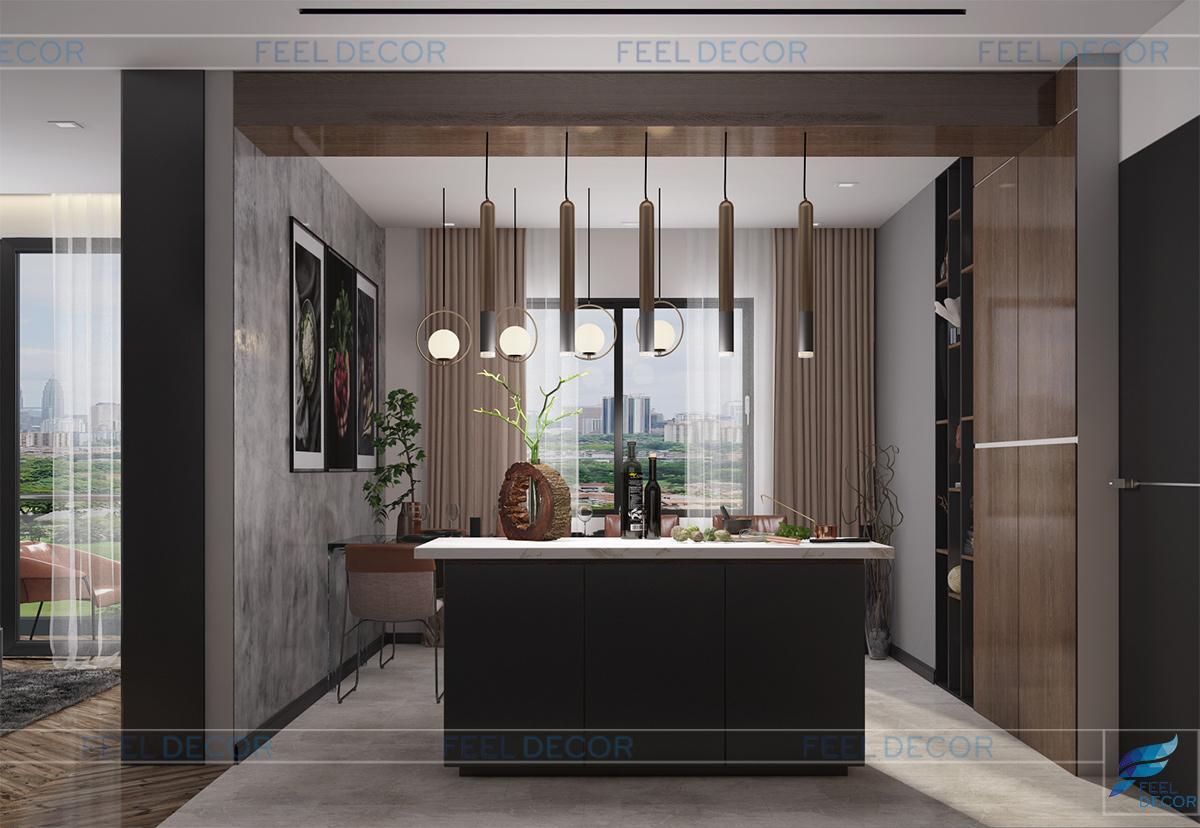nội thất căn hộ 80m2 chung cư Millennium Masteri Quận 4
