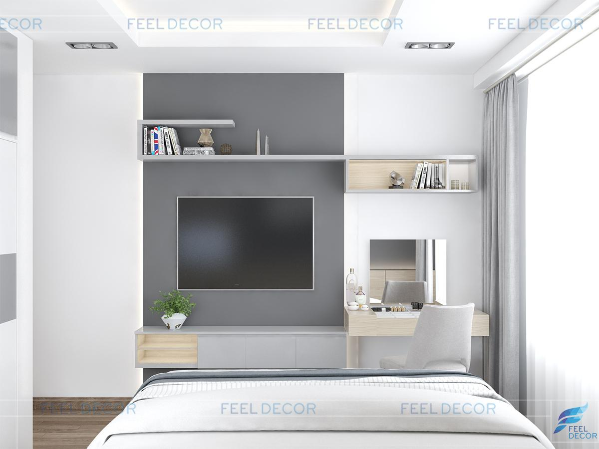 nội thất căn hộ 3 phòng ngủ 93m2 chung cư Novaland Wilton Tower