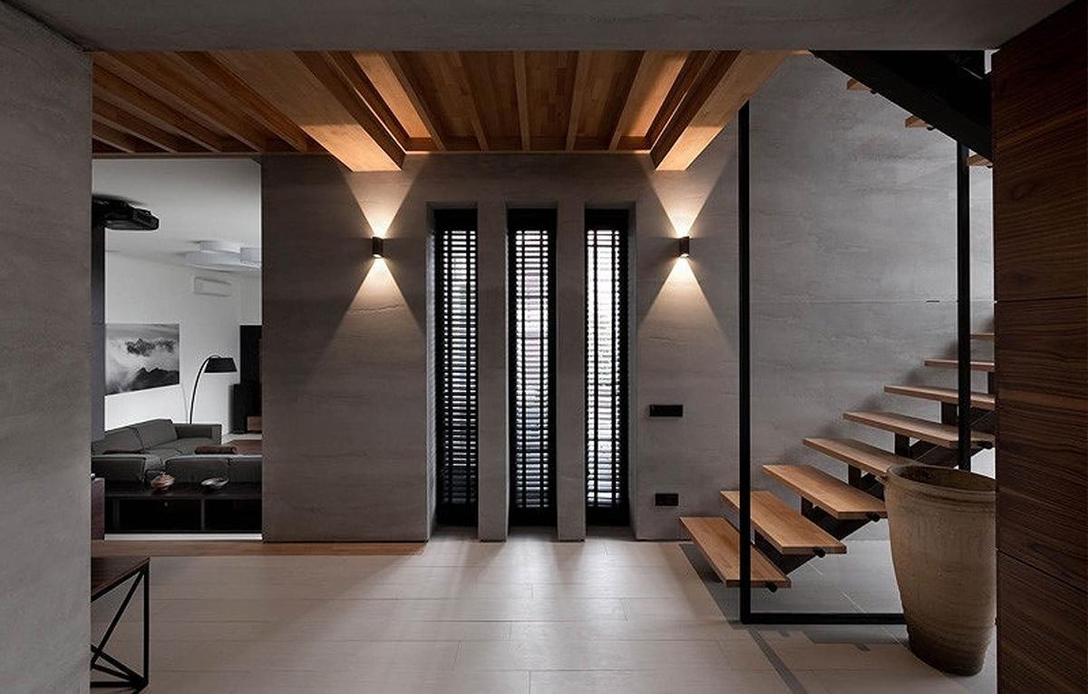 Thiết kế nội thất phòng khách nhà phố 2 tầng