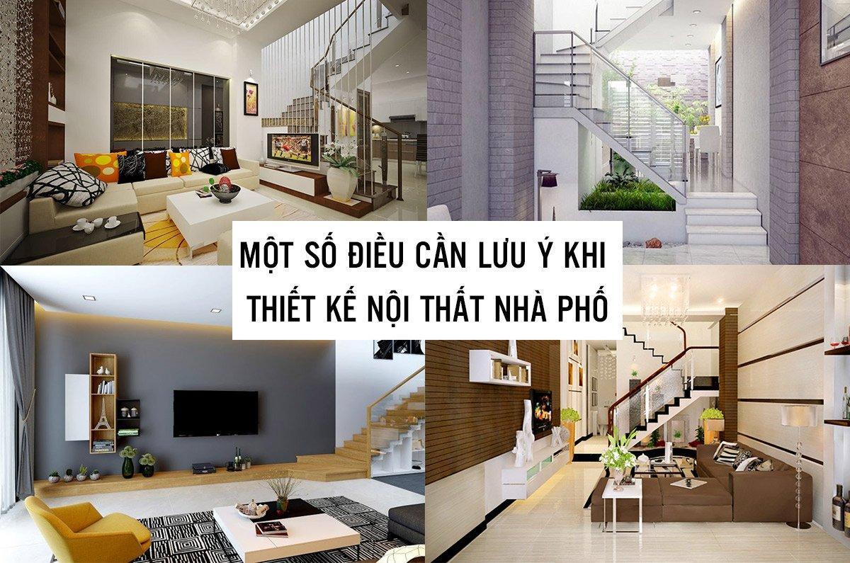lưu ý khi thiết kế nội thất nhà phố 2 tầng