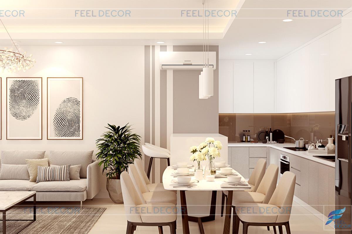 Thiết kế thi công nội thất căn hộ 110m2 chung cư Millennium Masteri &124; FD8618