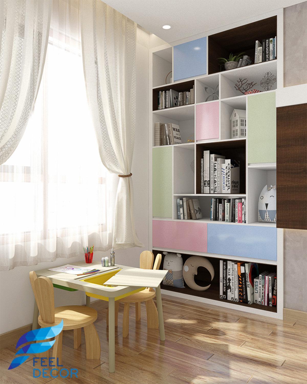 nội thất căn hộ 65m2 (2PN) chung cư Sky 9