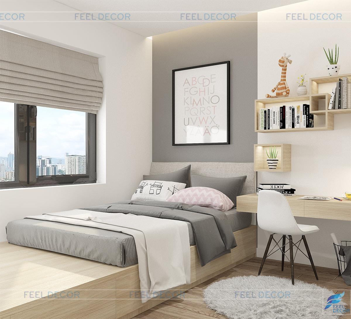 nội thất căn hộ 65m2 chung cư Millennium Masteri