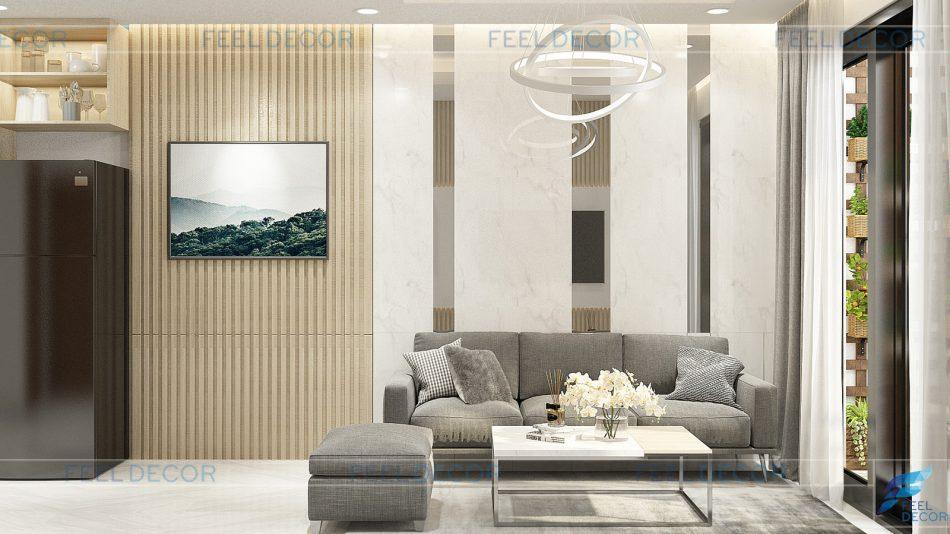 Thiết kế thi công nội thất căn hộ 81m2 chung cư Novaland Wilton Tower &124; FD7518