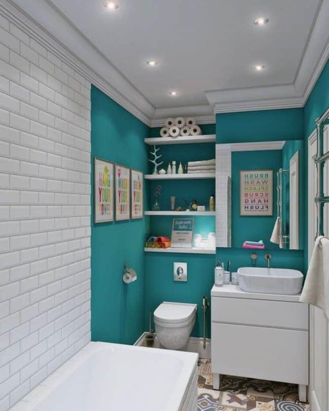 Không gian tắm thoáng tiện nghi nhờ thiết kế hợp lý