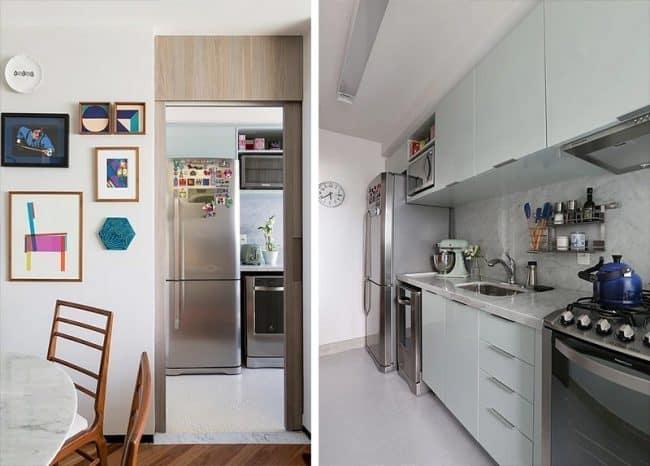 Khu bếp tuy nhỏ chật nhưng thoải mái, được trang bị đầy đủ tiện nghi hiện đại