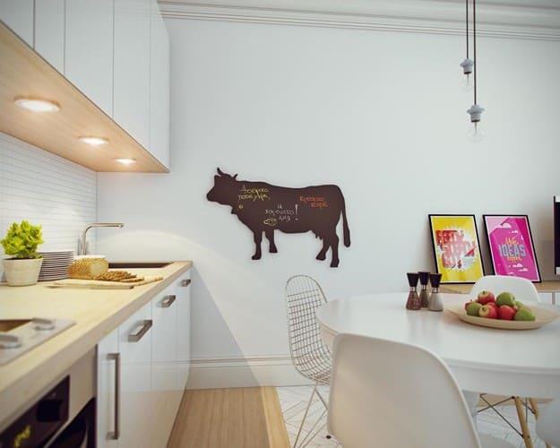 Mặt tủ bếp bằng gỗ toát lên vẻ mộc mạc, bình dị lạ thường