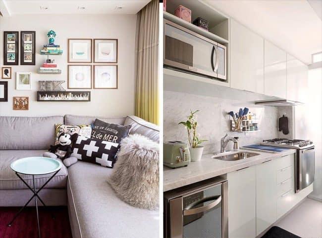 Phòng bếp hiện đại, gọn gàng được bố trí tách biệt hẳn với phòng khách và nơi ngủ nghỉ