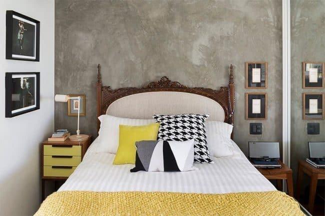 Tường bê tông thô mịn là phông nền lý tưởng giúp đồ nội thất nổi bật hơn