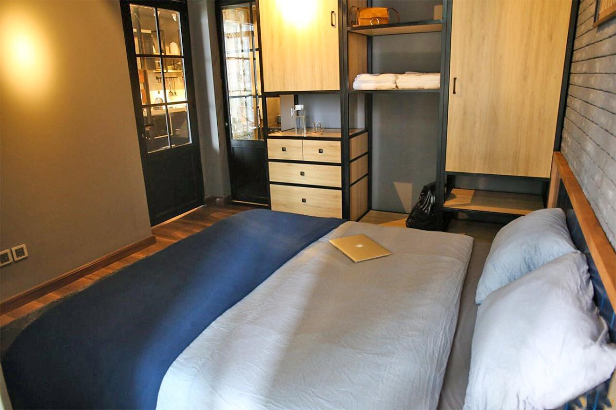 Thiết kế nội thất phòng bếp căn hộ 1 phòng ngủ