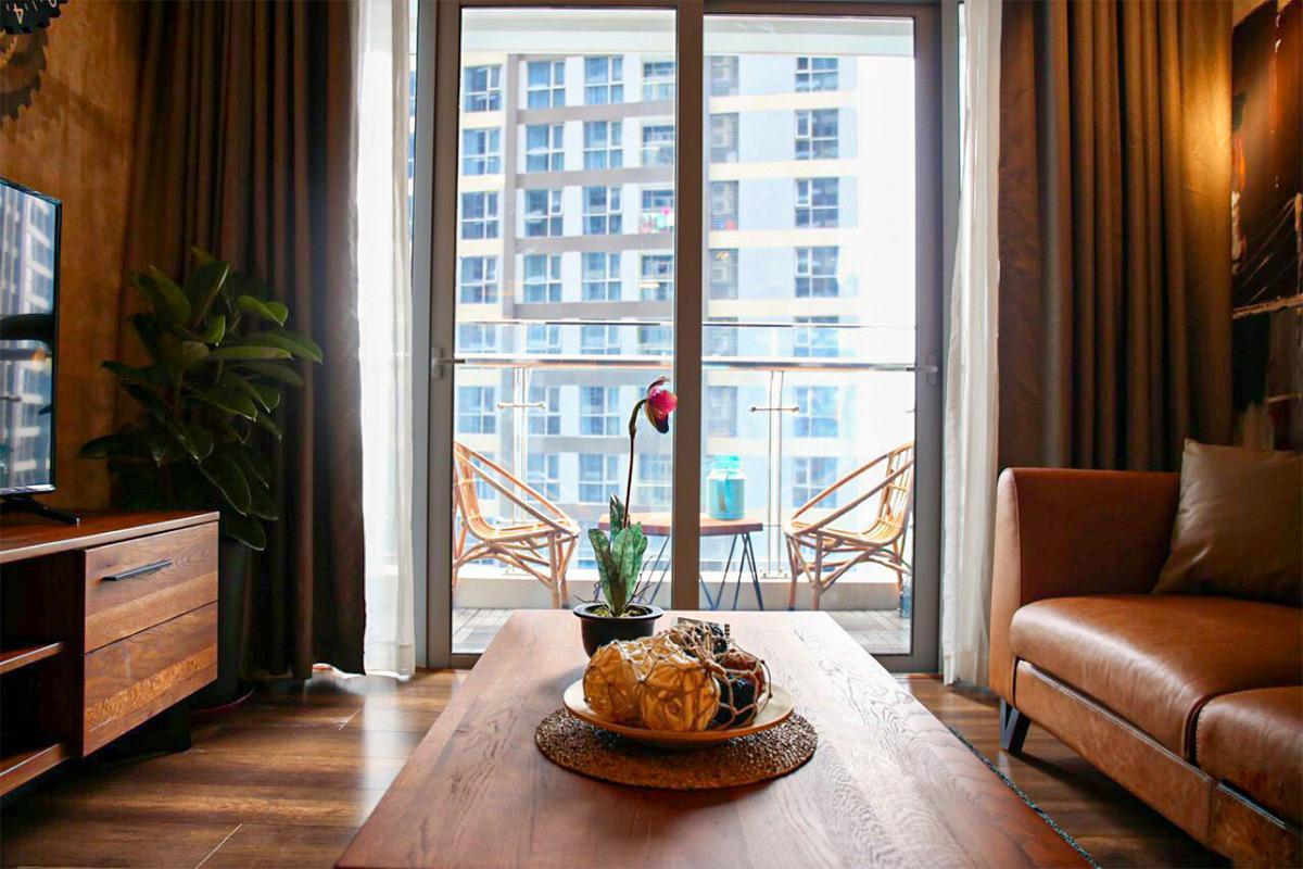 Thiết kế nội thất phòng khách căn hộ 1 phòng ngủ