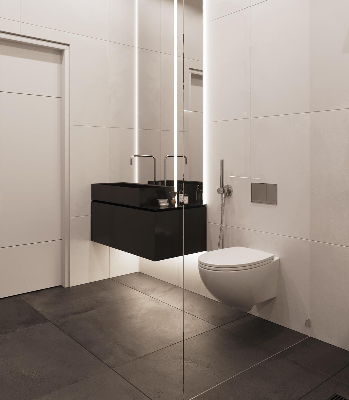 Thiết kế phòng vệ sinh căn hộ cá tính