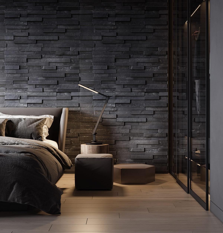 Nội thất phòng ngủ màu ghi